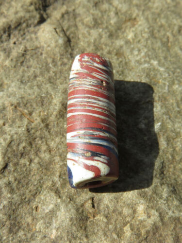 Rare Antique Recycled 7 Layer Venetian Chevron Early African Trade Bead Ghana