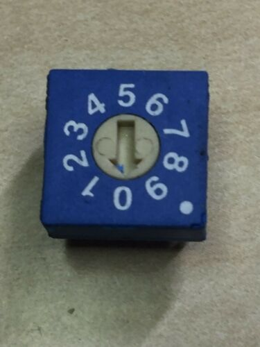 ECE Rotary DIP Switch ERD1-10-S, Flat type