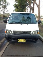 2002 TOYOTA HIACE PETROL AND LPG LONG REGO Auburn Auburn Area Preview