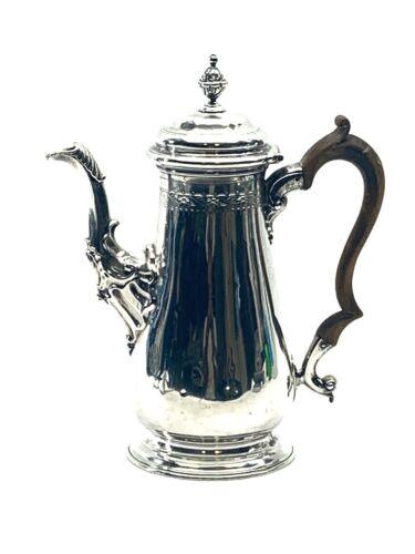 George II Sterling Silver Coffee Pot Fuller White London 1752-53