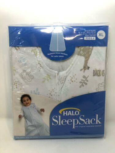 HALO Sleepsack 100% Cotton Wearable Blanket, TOG 0.5, Llama Sand, Size X-Large