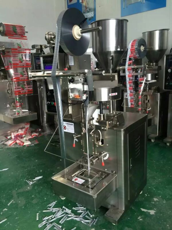 1g 44mm Back-seal Liquid/Granules/Paste Wrapping Machine/Bag Wrapper Machine