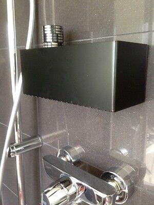 dusche bad wc ablage duschregal seifen shampoo regal ohne bohren schwarz kleben ebay. Black Bedroom Furniture Sets. Home Design Ideas