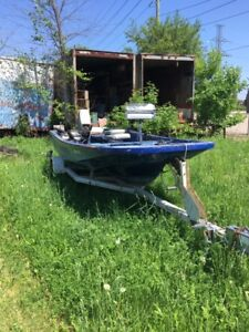 Boat motor trailer and gear