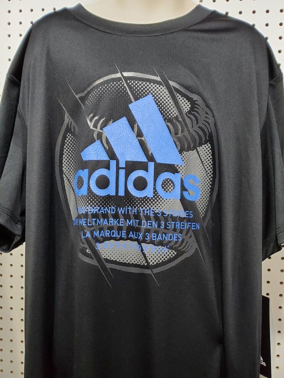 Boys Kids Youth ADIDAS Shirt NEW Black Climalite baseball sh