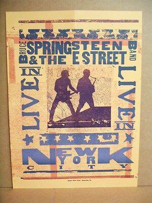 Reprint RARE Bruce Springsteen E-Street band Concert Poster 15x21 New York