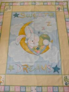 BABY COT PANEL Quilt Fabric - SWEET DREAMS