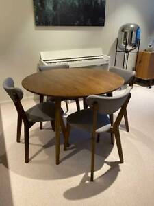 Fantastic Furniture 'Tara' round dining table and four chairs