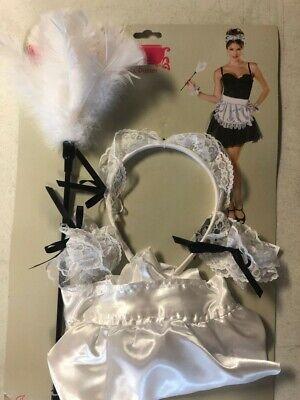 New Seasons Maid Costume Kit, Halloween, Including Headpiece, Apron, Cuffs - Seasons Halloween Costumes