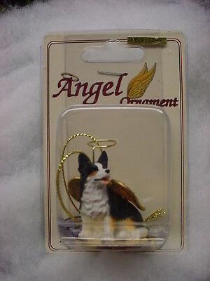 CARDIGAN WELSH CORGI dog ANGEL Ornament HAND PAINTED Figurine Christmas puppy