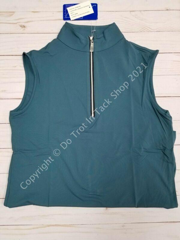 Tailored Sportsman ICEFIL Ziptop Sleeveless Shirt - Lake Blue/Black/Silver