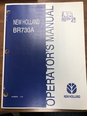 New Holland Br730a Round Baler Operators Manual 87056203 505