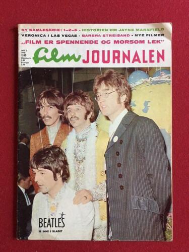 "1968, Beatles, ""Film Journalen"" Magazine (Scarce)"