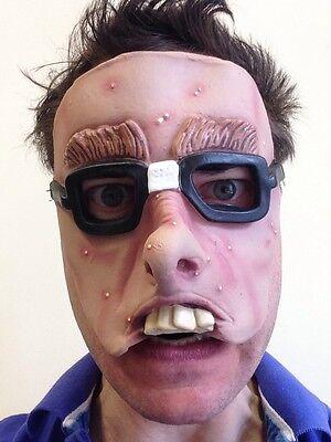 Lustig Halbes Gesicht Nerd Geek Maske Kostüm Wally - Lustige Halloween Gesichter