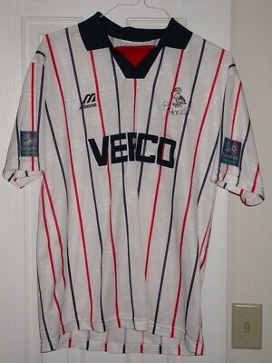 Wycombe Wanderers Game Worn/Used Soccer Jersey 1997-98 England Nationwide FL  image