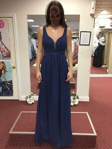 Beautiful Navy grad/bridesmaid dress