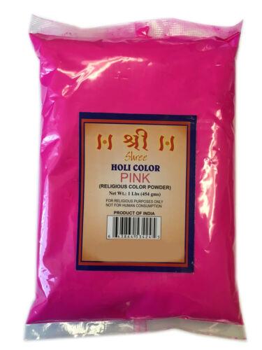 BUY 5 GET 1 FREE Holi Color Powder Pink Colour Festival Colors (1lb)