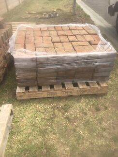 Red Rustic Brick Pavers - 2nd Hand