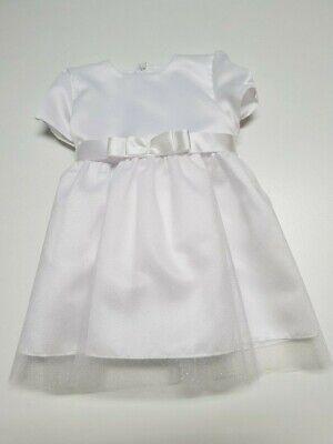Taufkleid Festkleid  Kleid Taufe Hochzeit Babykleid Weiß Glitzer Eko