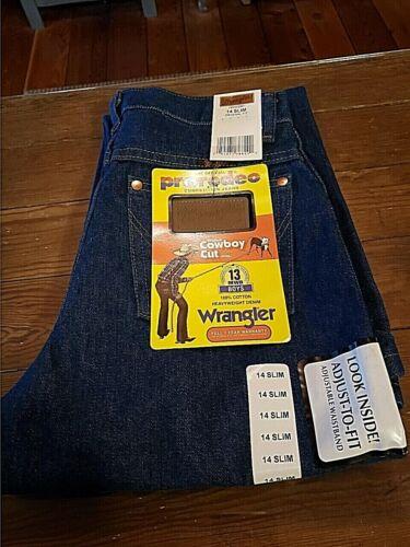 Wrangler Cowboy Cut Boys Jeans, Adjustable Waistband, 14 Slim