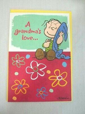 Mothers Day Card for Grandma Hallmark Peanuts Linus
