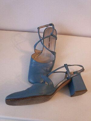 chaussure sandale en cuir turquoise 37 LAURA CAMINA. état neuf super qualité