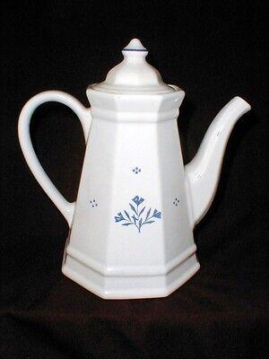 Pfaltzgraff Cottage Collection Blue Tulip PERENNIALS Coffee Pot w Lid ()