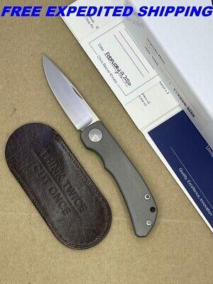 "CHRIS REEVE IMPINDA SLIPJOINT KNIFE 3.0"" S35VN STONEWASH BLADE TITANIUM HANDLE"