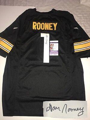 Hand Signed Steelers Jersey - Dan Rooney Hand Signed Pittsburgh Steelers Jersey HOF Owner Steel City JSA CERT