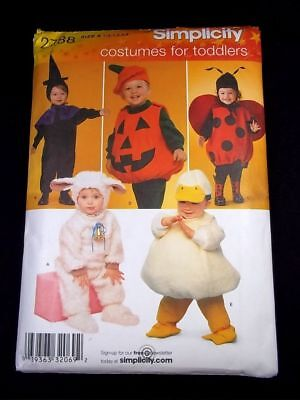 Simplicity 2788 Costumes for Toddlers witch pumpkin bunny duck ladybird Sz A