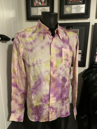 Sir Elton John own and worn Dries Van  Noten silk shirt