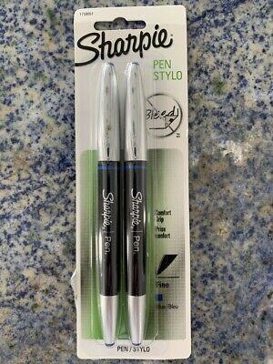 Sharpie 1758051 Sharpie Grip Pens Blue Fine Point 2-pack