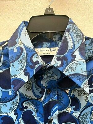1970s Men's Shirt Styles – Vintage 70s Shirts for Guys Vintage 1970's Prince Igor by Burma Disco Paisley L/S Shirt Clubwear Men's M, S $39.00 AT vintagedancer.com