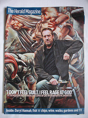 USED THE HERALD MAGAZINE 10/11/2007 PETER HOWSON COVER. DARYL HANNAH. WARSAW.