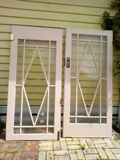 Original art deco french glass doors building materials original art deco double doors sciox Images