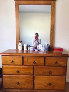half-year-used solid wood dresser Campsie Canterbury Area Preview