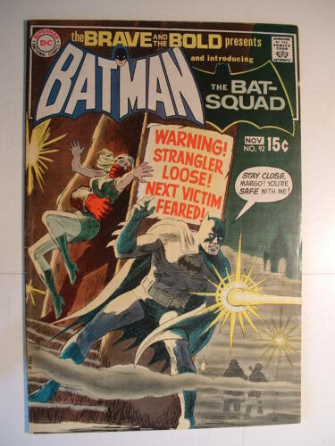 Brave and the Bold #92 - DC 1970 - First Bat-Squad!  POW!