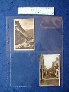 10 X POSTCARD PHOTO ALBUM REFILLS PLASTIC SLEEVES 4 POCKET SCRAPBOOK EPHEMERA