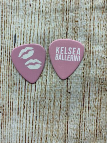 KELSEA BALLERINI Guitar Pick Lot of 2 Name & Lip Prints Pink
