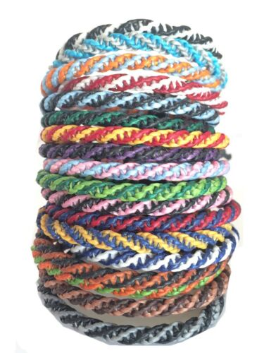 The Double Helix Thai Wristband Handmade Waxed Cotton Thailand Bracelet