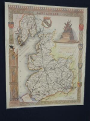 Reproduction Antique Map of Lancashire 16 x 20 inches.