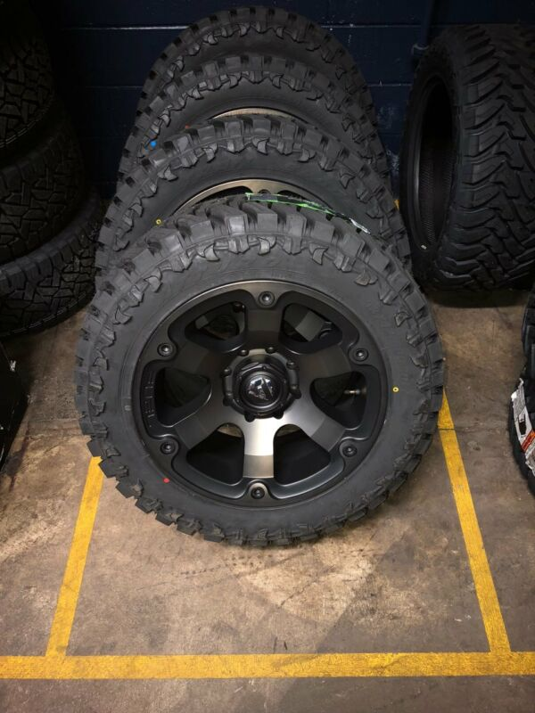 "20"" Fuel Beast D564 Wheels Rims 35"" Atturo Mt Tires 8x6.5 Chevy Dodge Gmc"