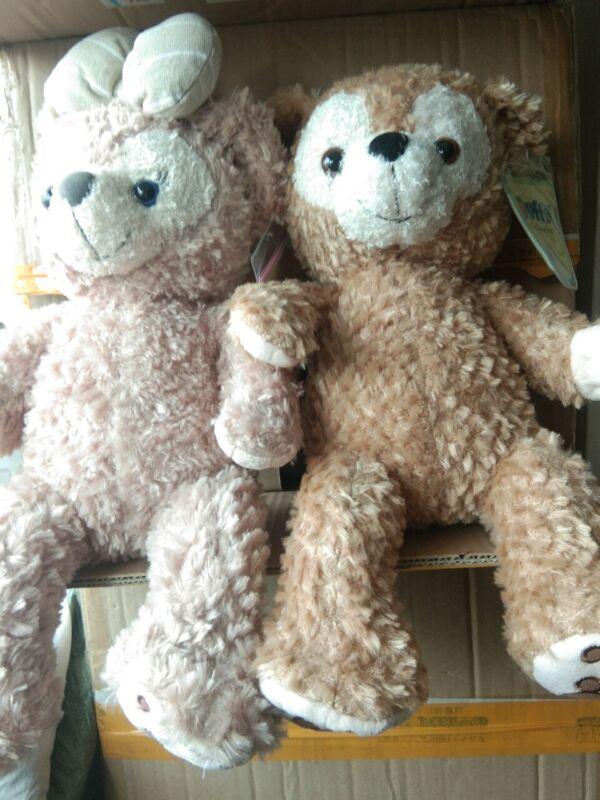 "2pcs* New Disney Resorts 17/"" SHELLIE MAY Duffy Disney Bear Plush Toy Doll Gift"