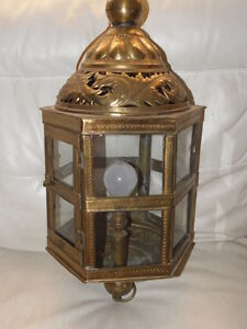 Lantern Ornate Ceiling Light Lamp Hall Porch Antique Lamp Lantern Brass Fixtu