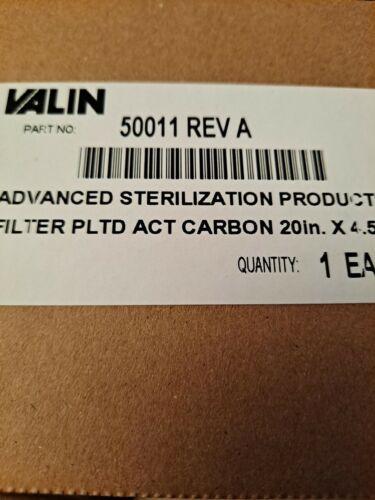 "VALIN 50011  ADVANCE STERILIZATION FILTER PLTD ACT CARBON 20"" X 4.5"""