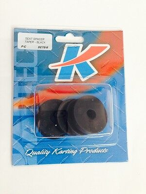 Go Kart - Seat Spacer Tapered  Black 8mm Pkt 6 - NEW