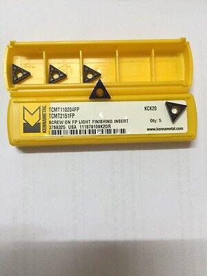 Tcmt 110204fp Tcmt2151fp Kck20 Kennametal Carbide Inserts-pack Of 10