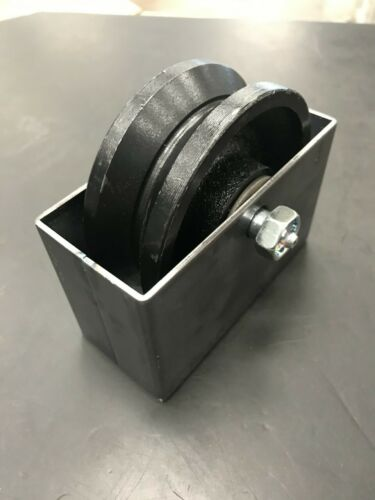 "4""x 1 1/2"" V-Groove 3/4"" Steel Caster Wheel 500lbs Rolling Gate Greasable W/BOX"