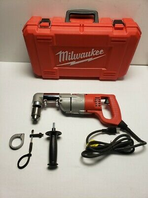 Milwaukee 7 Amp Corded 12 Corded Right-angle Drill Kit Whard Case 1107-1 Cc
