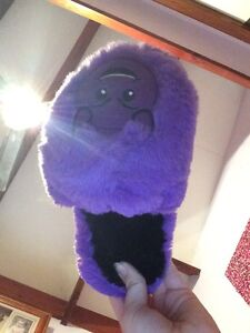 Purple emoji slippers Clifton Beach Cairns City Preview
